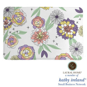 Laural Home kathy ireland® Small Business Network Member Retro Floral Bloom Memory Foam Rug