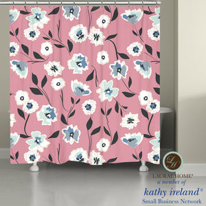 Laural Home kathy ireland® Small Business Network Member Delicate Floral Toss Shower Curtain