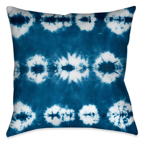 Kanoko Indigo Outdoor Decorative Pillow