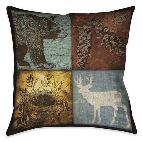 Lodge 4 Patch Indoor Decorative Pillow