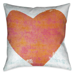 Letterpress Love Indoor Decorative Pillow