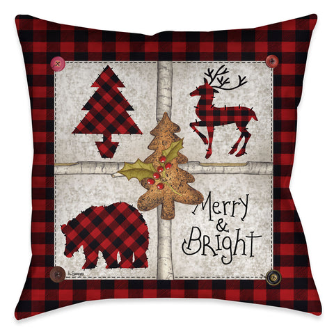 Merry and Bright Indoor Decorative Pillow