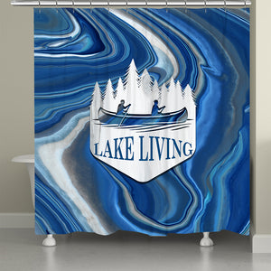 Lake Living Shower Curtain