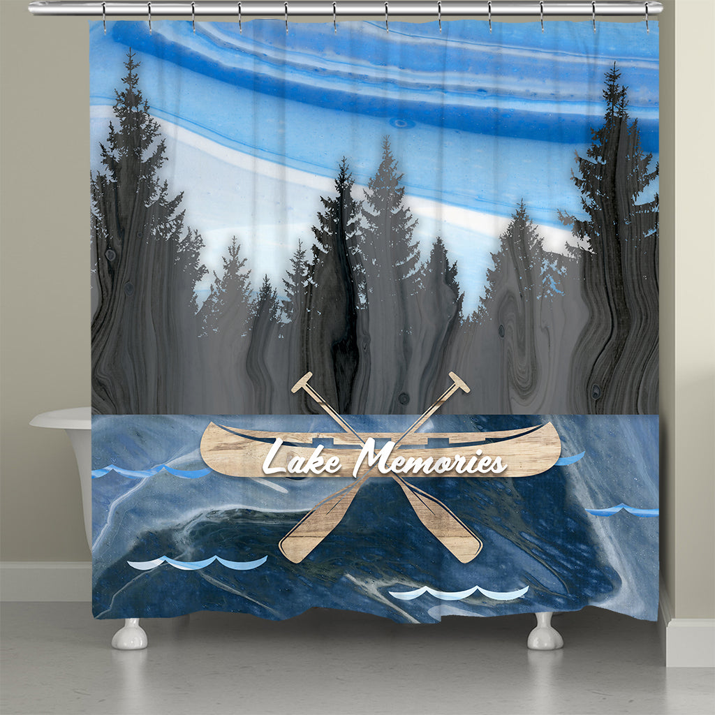 Lake Memories Shower Curtain