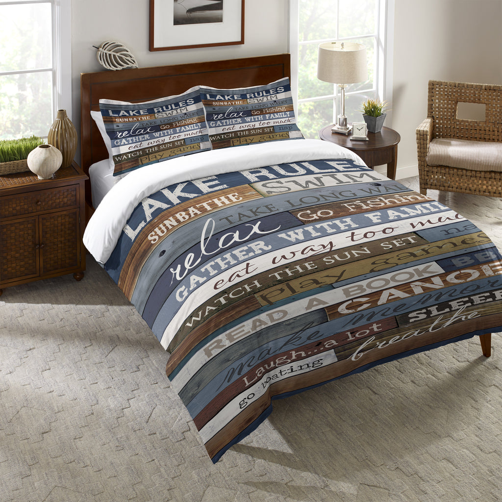 Lake Rules Duvet Cover