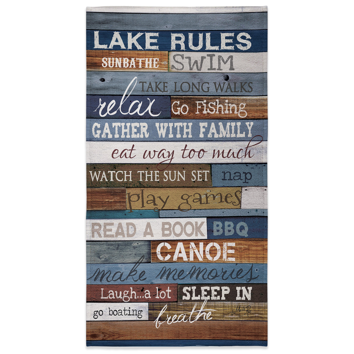 Lake Rules Beach Towel