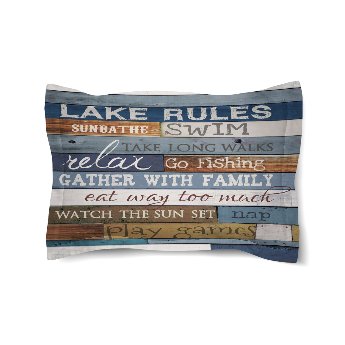 Lake Rules Duvet Sham