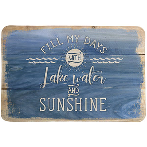 Lake Water And Sunshine Memory Foam Rug