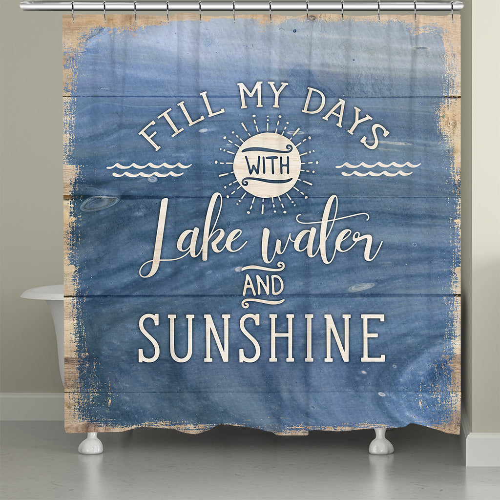Lake Water and Sunshine Shower Curtain