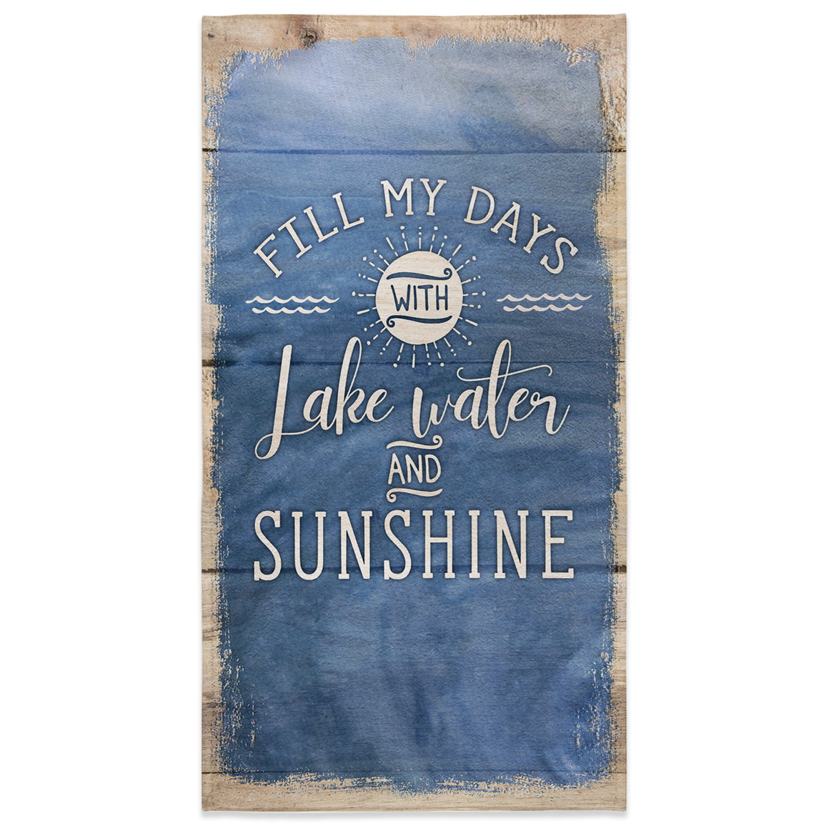 Lake Water and Sunshine Beach Towel