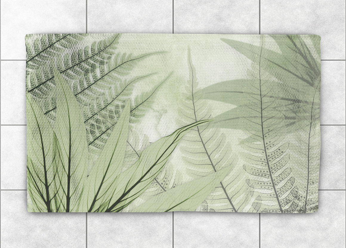 Layered Ferns X-Ray Accent Rug
