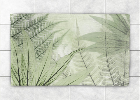 Translucent X-Ray Ferns Accent Rug