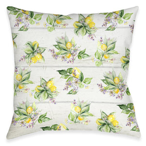 Lemon Bunch Outdoor Decorative Pillow