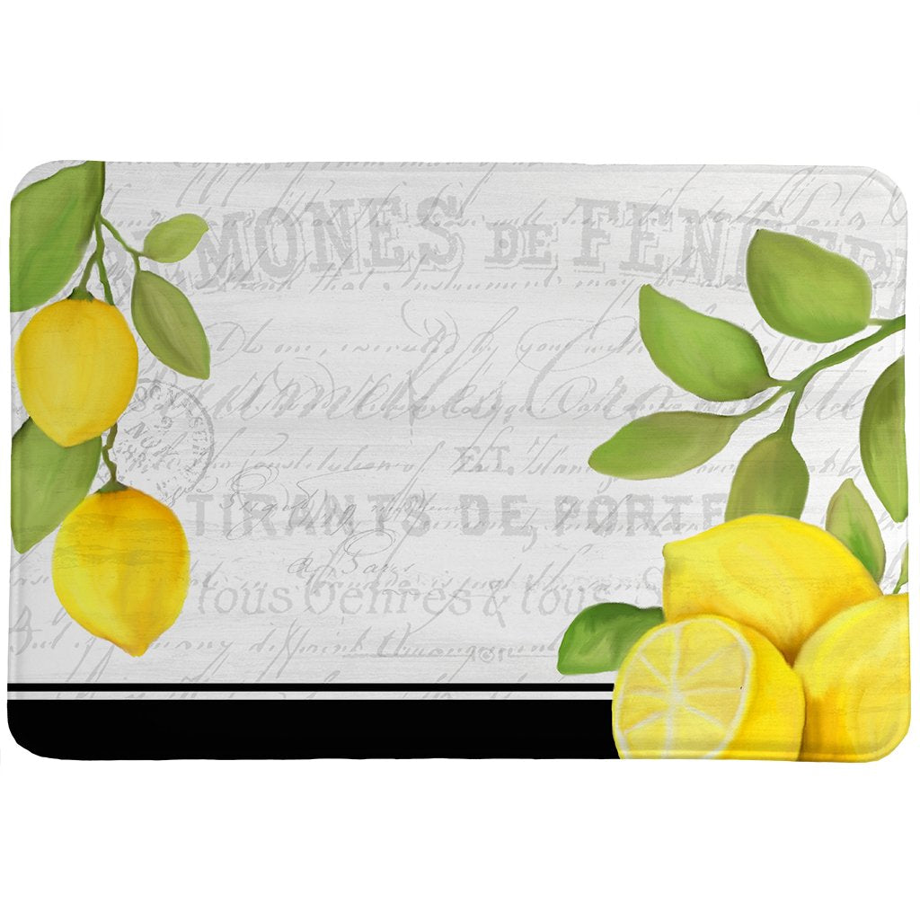 Lemon Postcard Memory Foam Rug