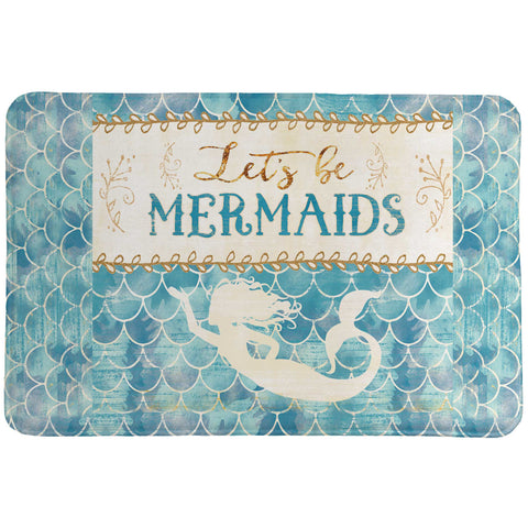 Lets Be Mermaids Memory Foam Rug
