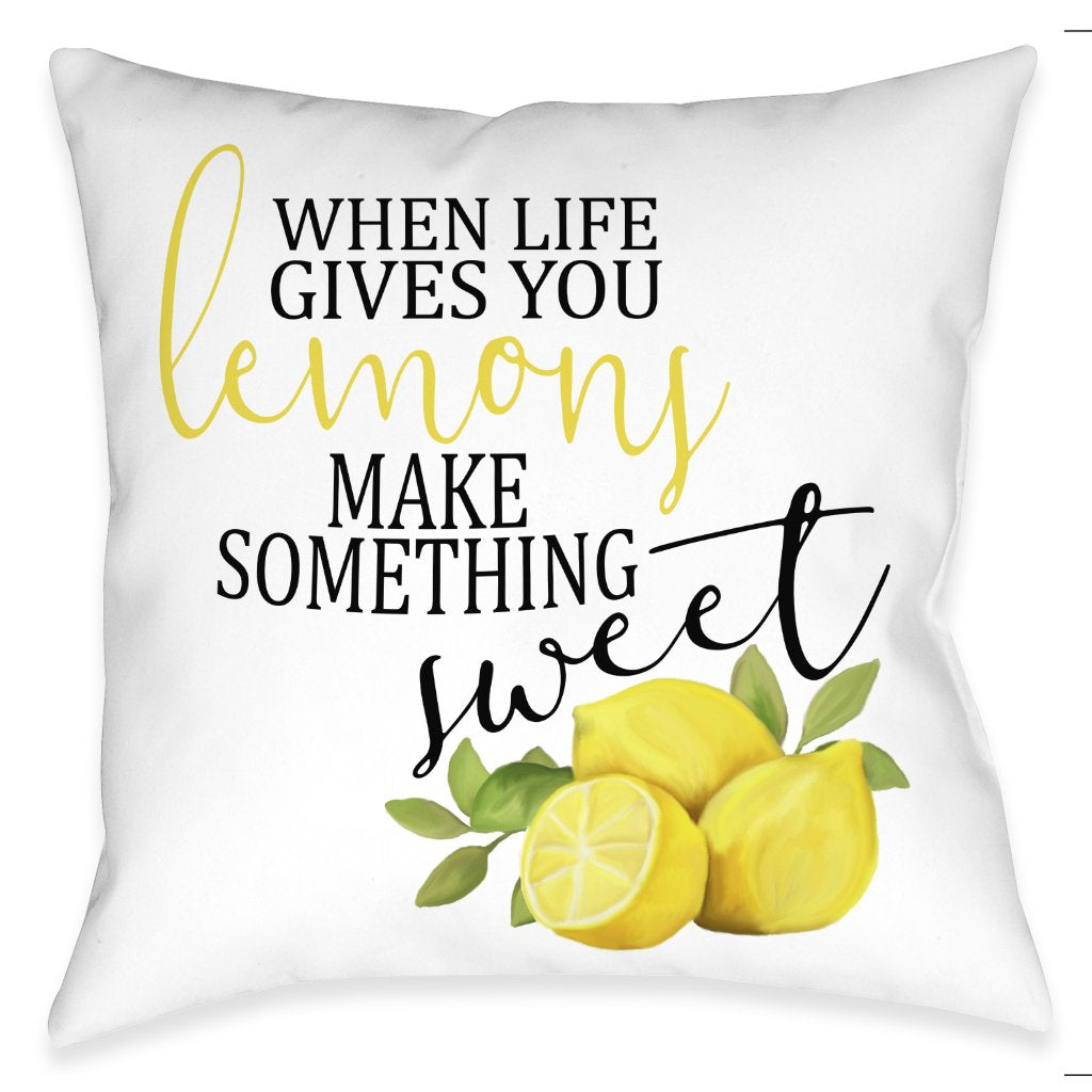 Life Gives You Lemons Outdoor Decorative Pillow
