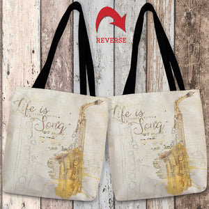Life is a Never Ending Song Tote Bag
