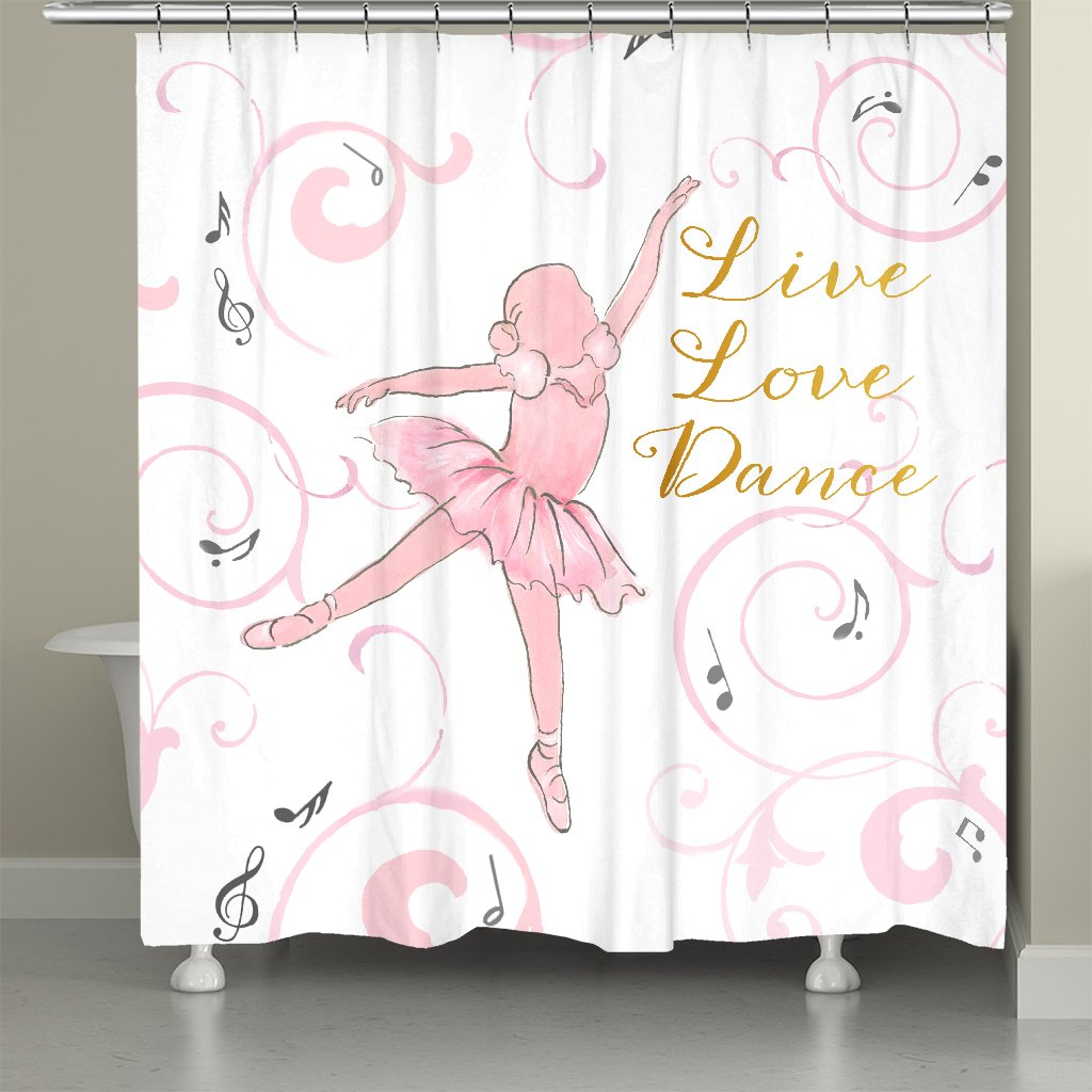 Live Love Dance Ballet Shower Curtain
