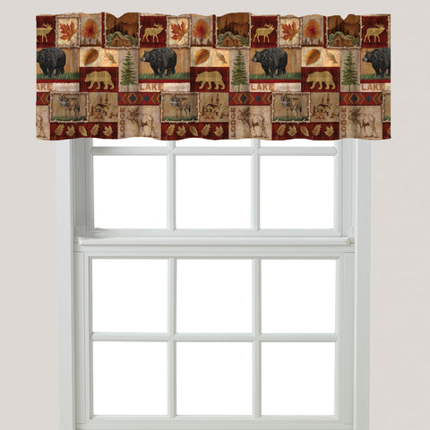 Lodge Collage Window Valance