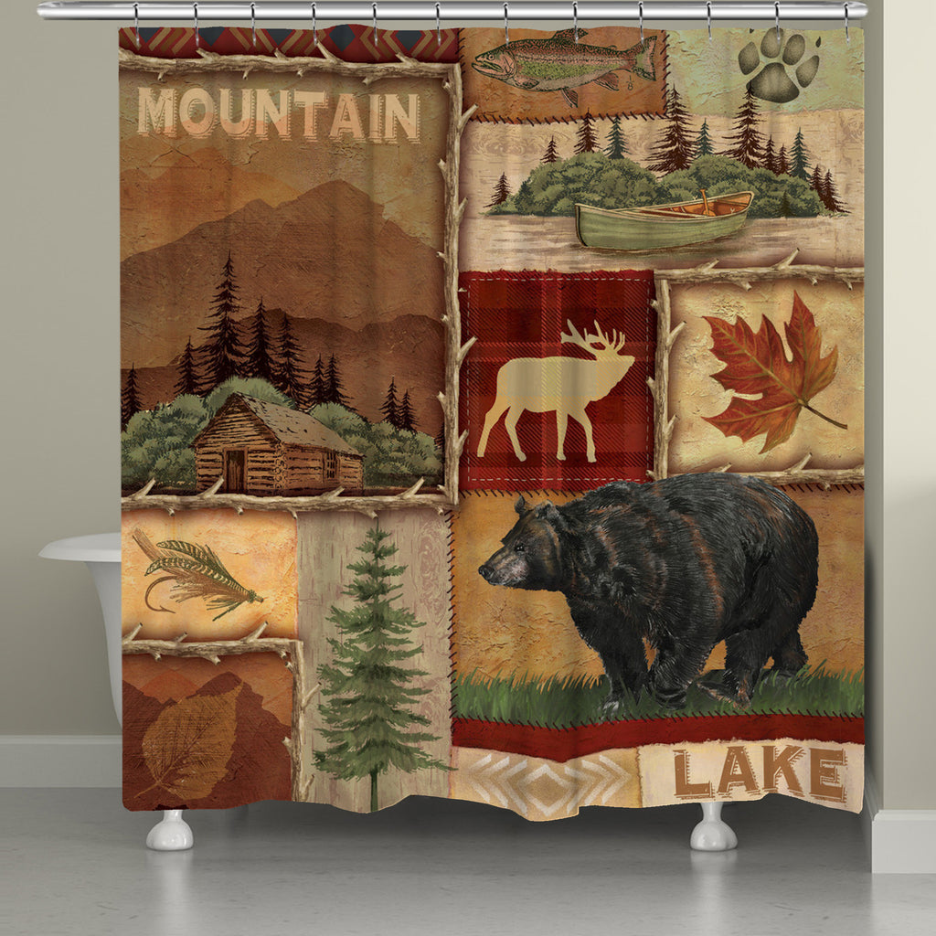 Lodge Collage I Shower Curtain