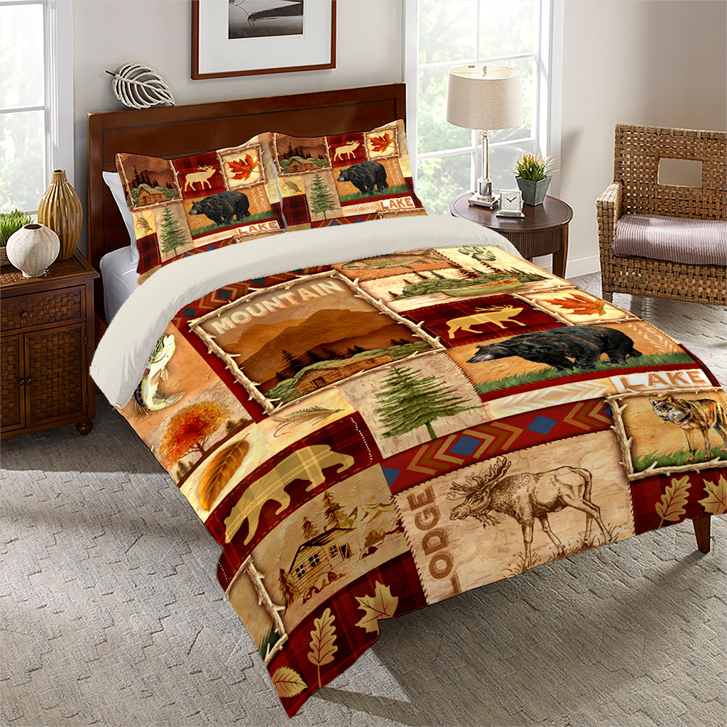 Lodge Collage Comforter