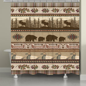 Lodge Look Shower Curtain