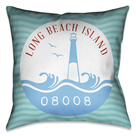 Long Beach Island Indoor Decorative Pillow