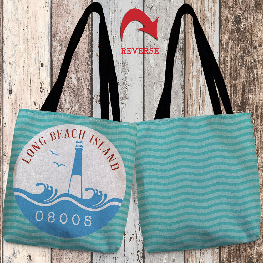 Long Beach Island Canvas Tote Bag