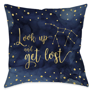 Look Up and Get Lost Indoor Decorative Pillow