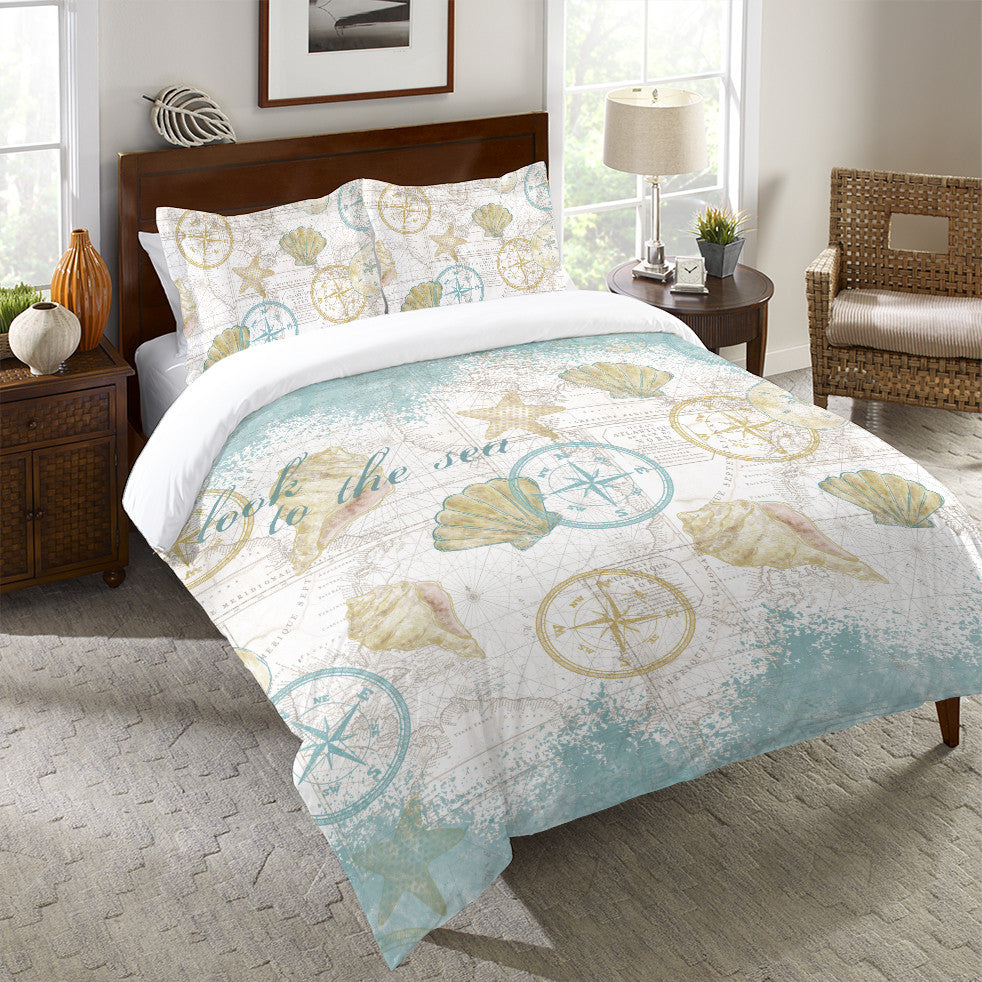 Look to the Sea Duvet Cover