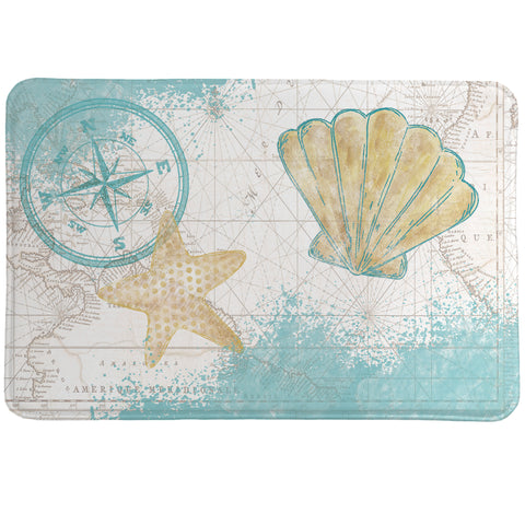 Look to the Sea Memory Foam Rug