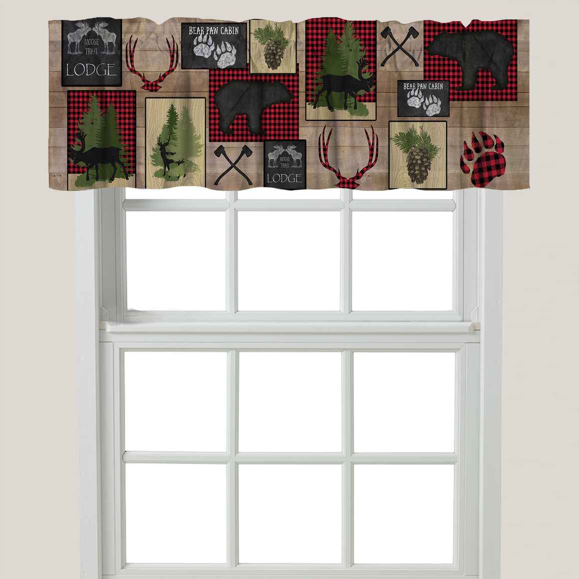 Lumberjack Plaid Window Valance