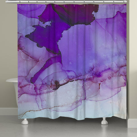 Luminescent Jewel Tones Shower Curtain