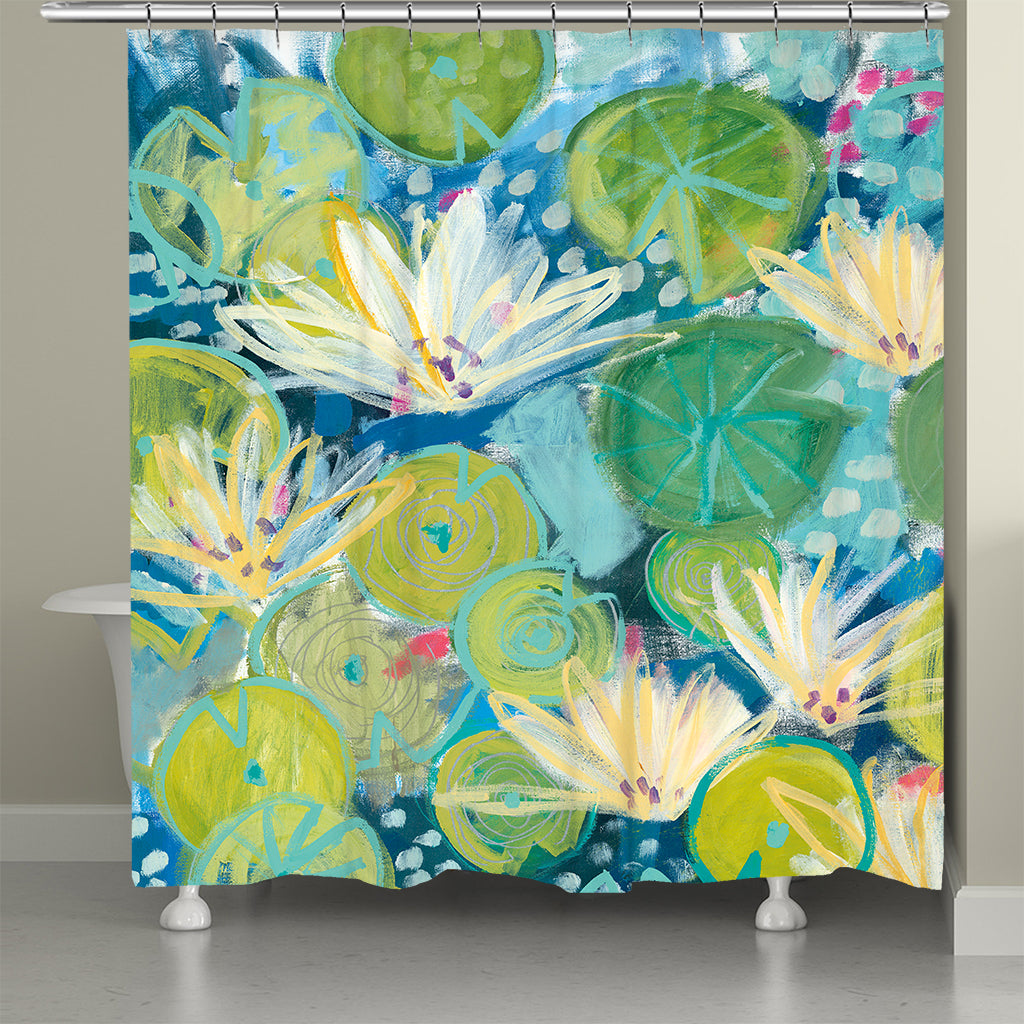 Lush Lily Pad Shower Curtain