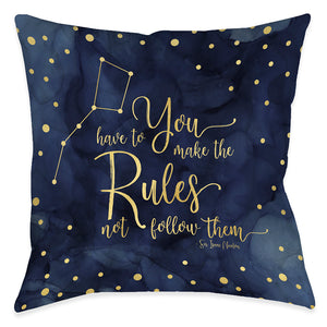 Make The Rules Indoor Decorative Pillow