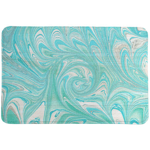 Marble Waves Memory Foam Rug