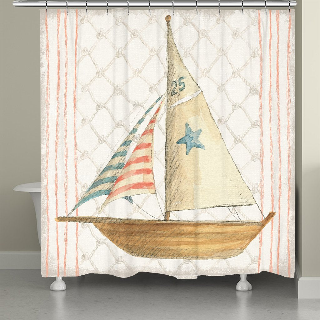 Maritime Sailboat Shower Curtain