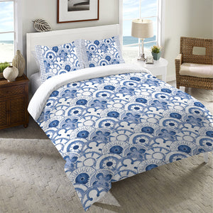 Medallion Scallops Duvet Cover
