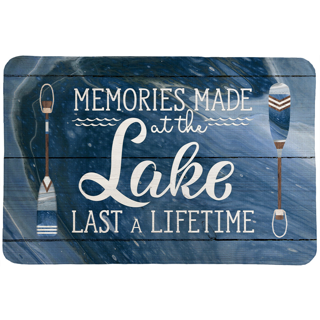 Memories At The Lake Memory Foam Rug