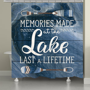 Memories At The Lake Shower Curtain