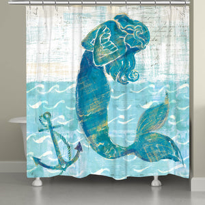 Mermaid of the Seven Seas Shower Curtain