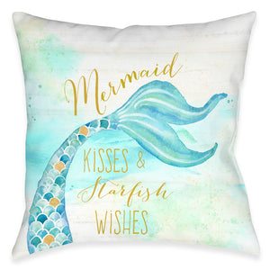 Mermaid Kisses Indoor Decorative Pillow