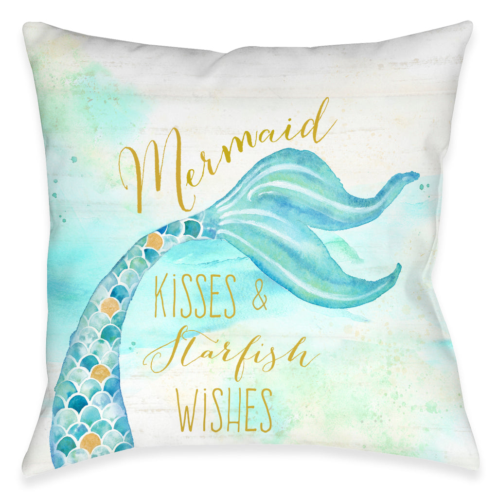 Mermaid Kisses Outdoor Decorative Pillow