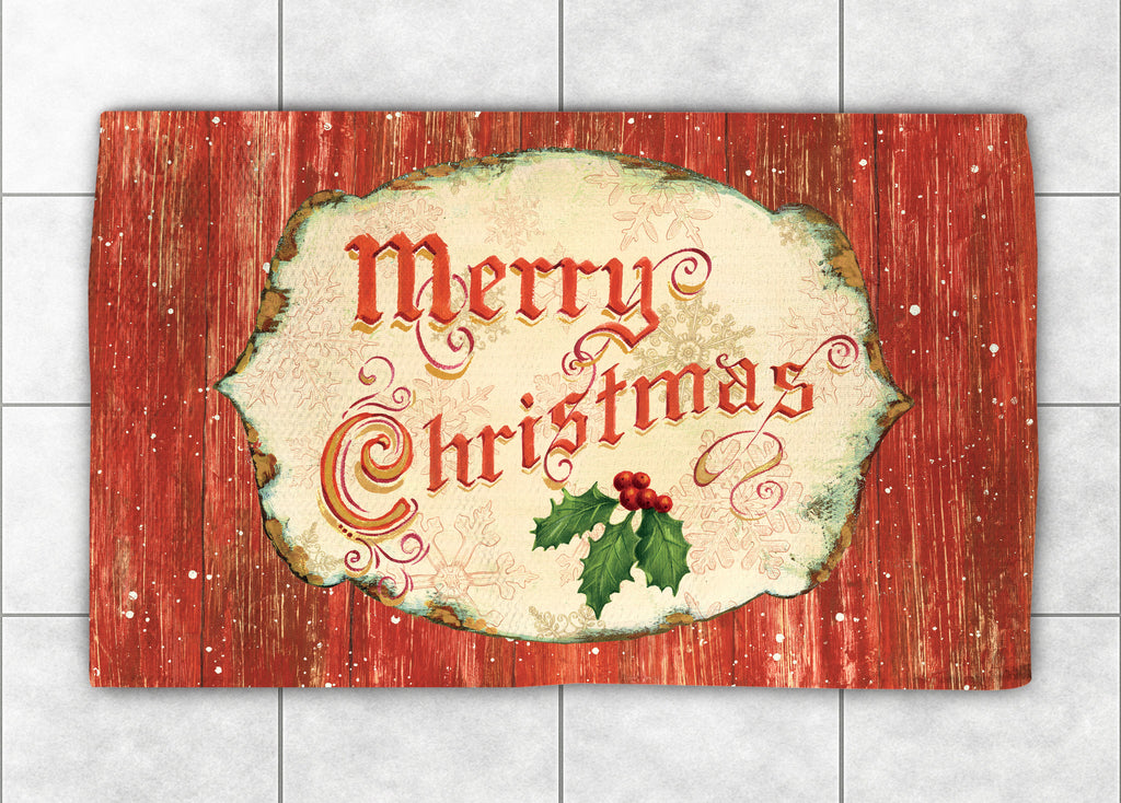 Merry Christmas Accent Rug