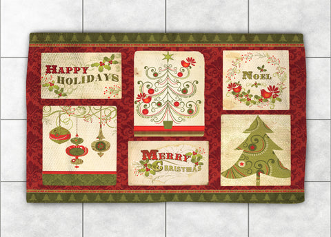 Holiday Wishes Accent Rug