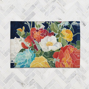 Midnight Floral Accent Rug