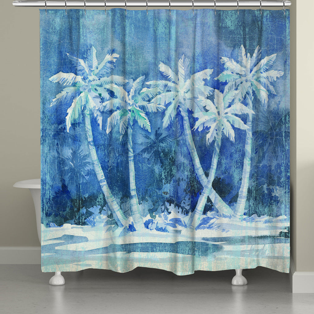 Midnight Palms Shower Curtain