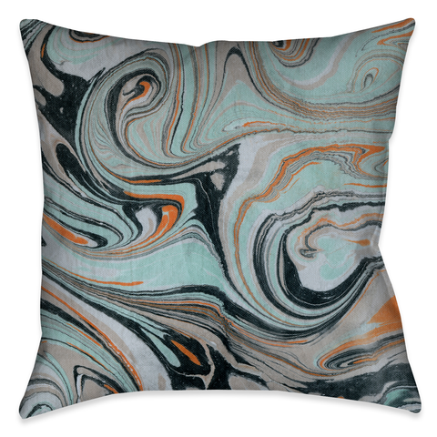Mint Marble II Outdoor Decorative Pillow
