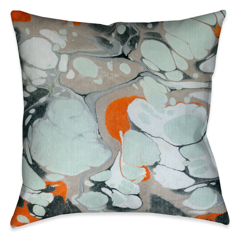 Mint Marble I Outdoor Decorative Pillow