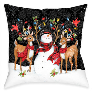 Modern Day Christmas Indoor Decorative Pillow